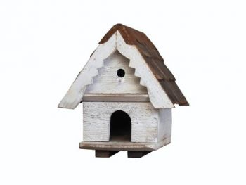 One Tier Dovecote (Large hole)  Traditional English Triangular Wall Mounted Birdhouse for Doves or Pigeons