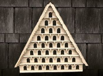 Eight Tier Dovecote (Large Hole) Traditional English Triangular Wall Mounted Birdhouse for Doves or Pigeons