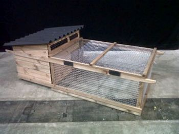 Bantam Poultry House and Run - Poultry coop for chickens - For up to 6 Hens