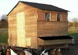 Dartford Poultry House, chicken shed for up to 50 hens