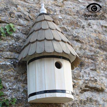 Dovecote Nest box - Traditional English Wall Mounted Birdhouse for Wild Garden Birds
