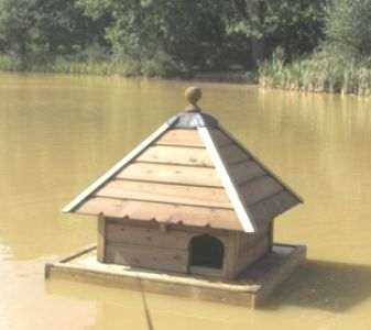 Medium Square Floating Duck House, Waterfowl Nesting Box for Pond or Lake