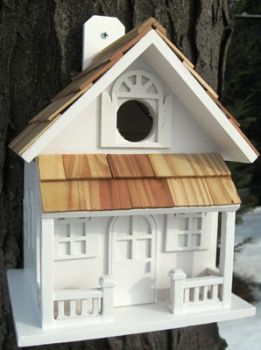 Country Cottage Birdhouse - White