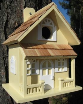 Country Cottage Birdhouse - Yellow