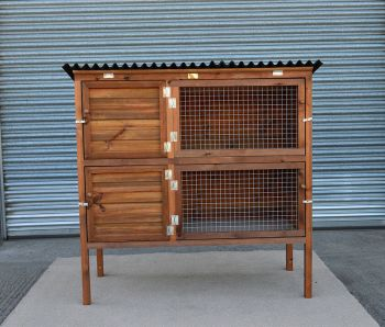 Rabbit Double Breeder - Pet hutch for rabbits or guinea pigs