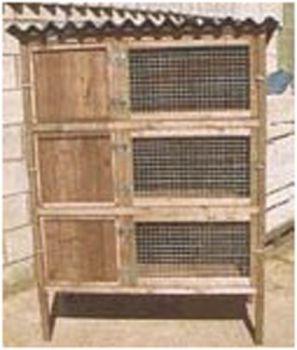 Rabbit Triple Breeder - Pet Hutch for rabbits or guinea pigs