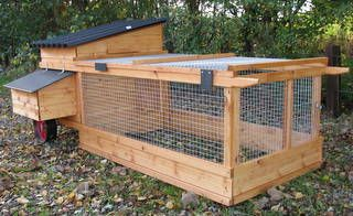Lynford Portable Coop and Run - Chicken house for up to 3 hens
