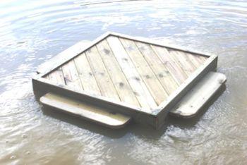 Medium Square Duck Float, Waterfowl Platform, Floating Waterfowl Pontoon
