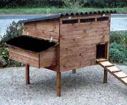 Stafford Standard Poultry House - Raised chicken coop for up to 10 hens