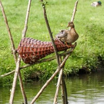 Wild Duck Nesting Basket - Long - Duck house for roosting and nesting ducks and waterfowl