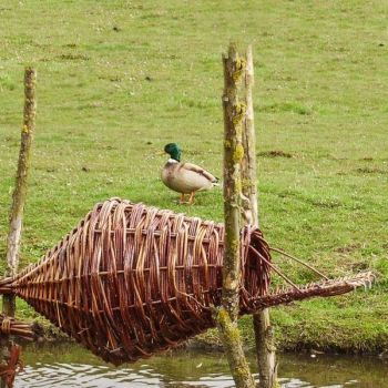 Wild Duck Nesting Basket - Round - Duck House for Roosting and Nesting Ducks